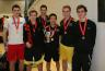 The triumphant Glasgow University Men's Badminton team after their BUCS Trophy victory over Loughborough